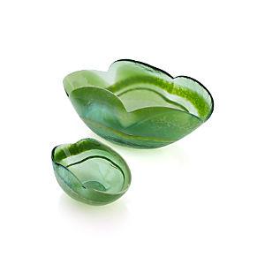 Green Petal Bowls
