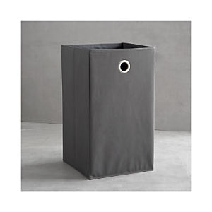 Grey Folding Hamper with Grommet