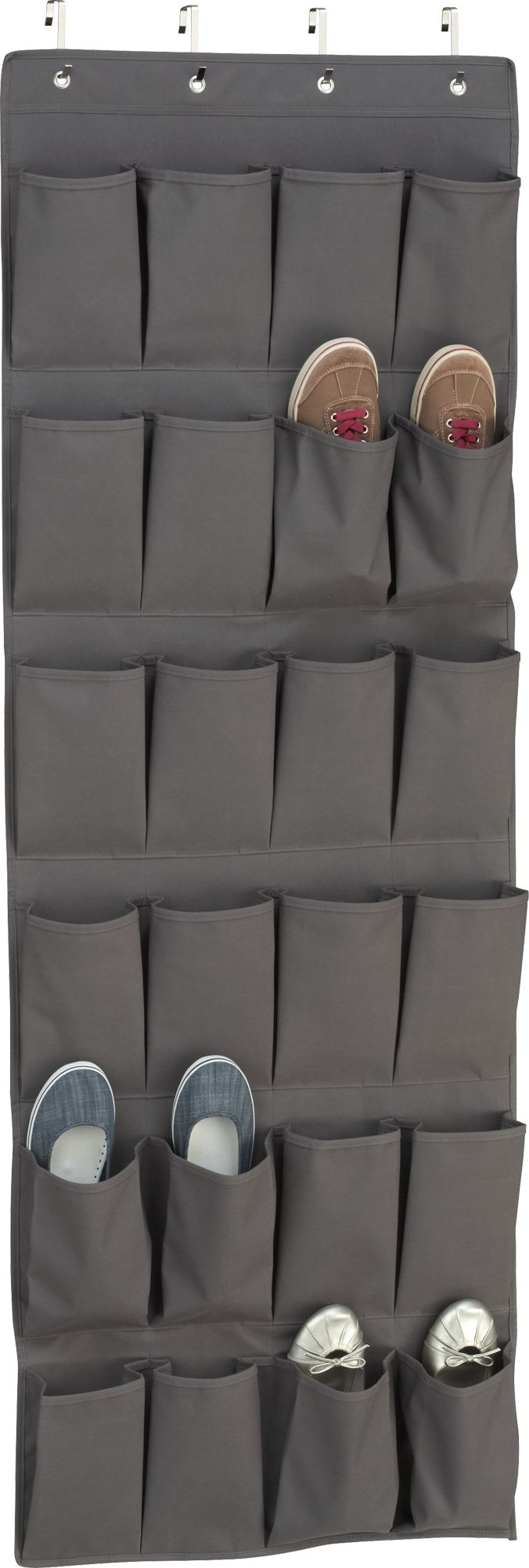Grey Over The Door Shoe Bag