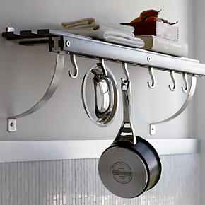 Grey Wall Mounted Pot Rack