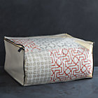Large Storage Bag with Grey Trim.