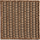 Grid Brown Indoor-Outdoor Rug Swatch.