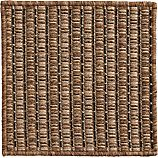 "Grid Brown Indoor-Outdoor 12"" sq. Rug Swatch"