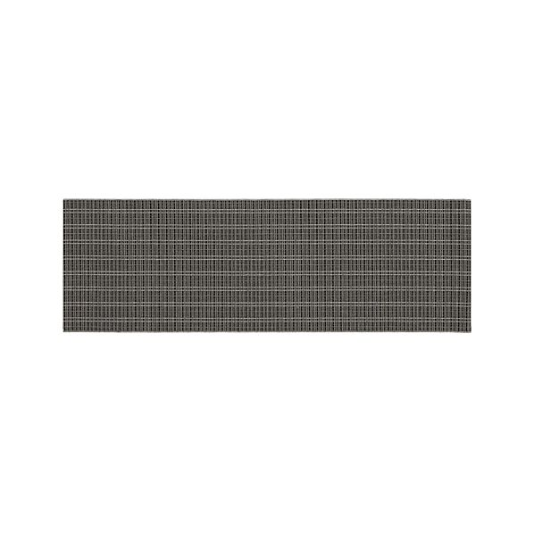 Grid Grey Indoor-Outdoor 2.5'x8' Runner