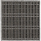 Grid Grey Indoor-Outdoor Rug Swatch.