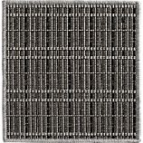 "Grid Grey Indoor-Outdoor 12"" sq. Rug Swatch"
