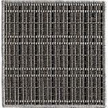 """Grid Grey Indoor-Outdoor 12"""" sq. Rug Swatch"""