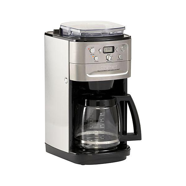 Cuisinart Coffee Maker Grinding Problems : Cuisinart Grind and Brew 12 Cup Coffee Maker Crate and Barrel