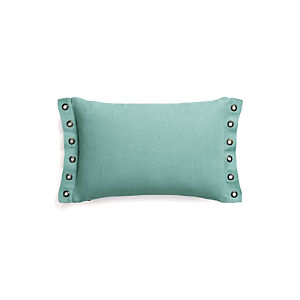 "Grommet Aqua 18""x12"" Pillow with Down-Alternative Insert"