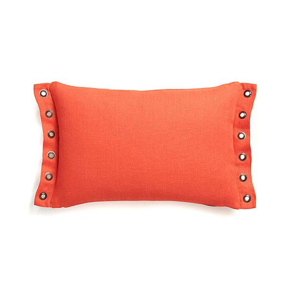 "Grommet Orange 18""x12"" Pillow with Down-Alternative Insert"