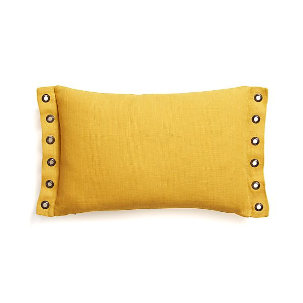 "Grommet Yellow 18""x12"" Pillow"