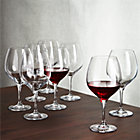 Set of eight Gus Red Wine Glasses.