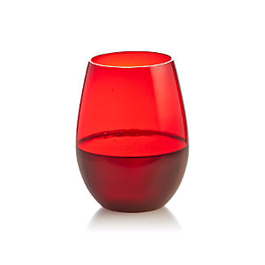 Gusto Red Stemless Wine Glass