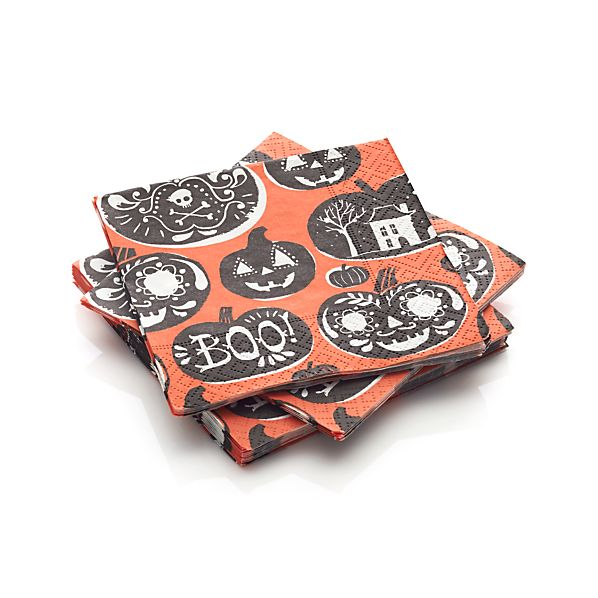Set of 20 Halloween Cocktail Napkins