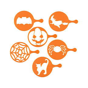 Set of 6 Halloween Decorating Stencils
