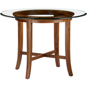 Halo Cognac Dining Table with 42 Glass Top