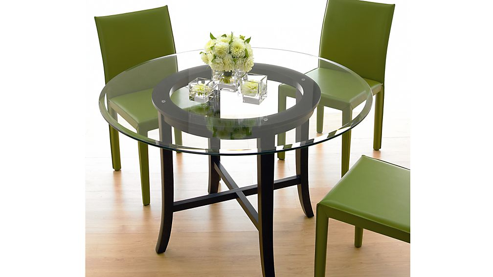 """Halo Ebony Dining Table with 60"""" Glass Top"""