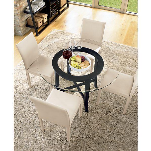 Halo Ebony Dining Table with 48