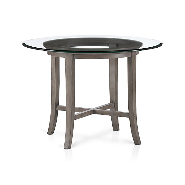"Halo Grey Dining Table with 42"" Glass Top"