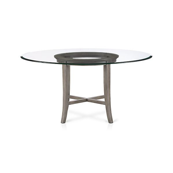 Crate And Barrel Glass Dining Table Halo Grey Dining