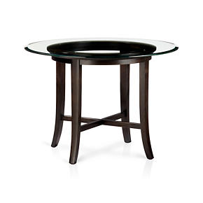 Halo Ebony Dining Table with 42 Glass Top