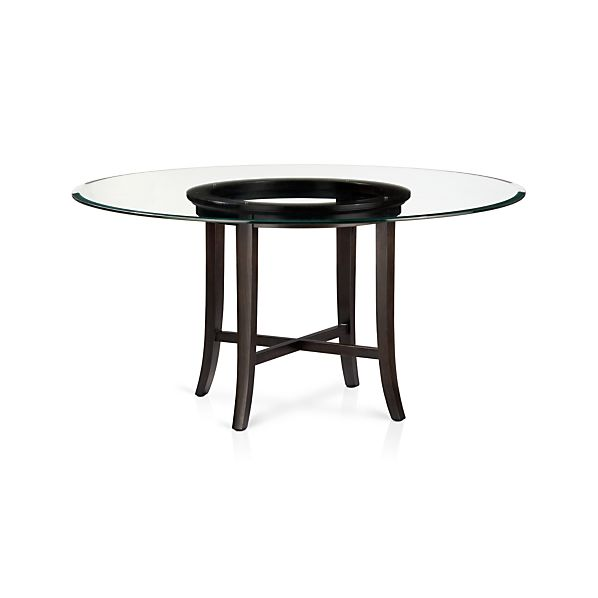 Halo Ebony Dining Table With 60 Quot Glass Top In Dining