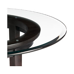 Halo Ebony Dining Tables with Glass Top