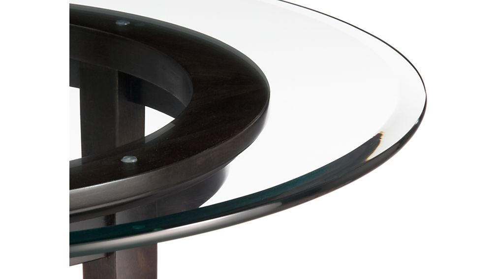 """Halo Ebony Dining Table with 48"""" Glass Top"""