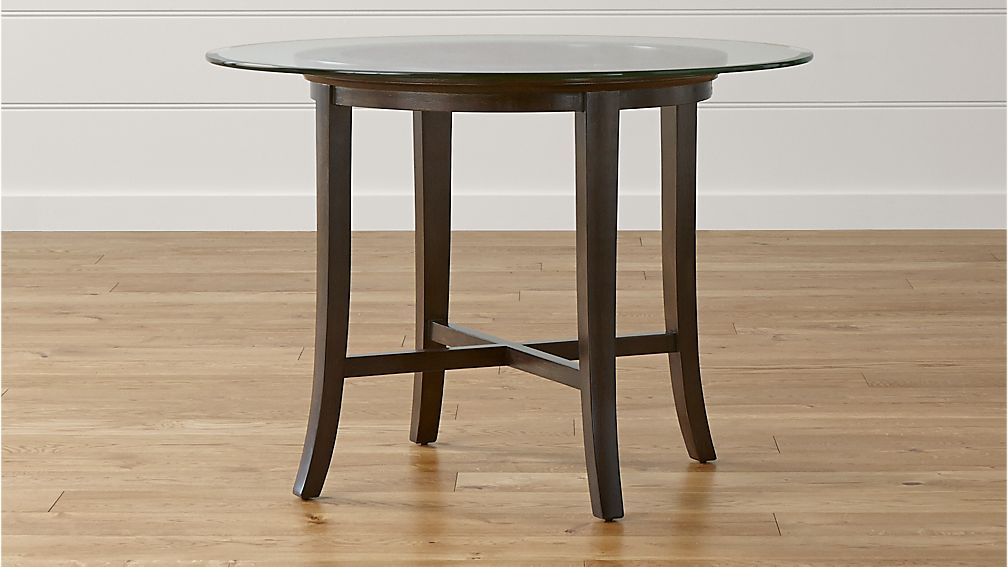 """Halo Ebony Dining Table with 42"""" Glass Top"""