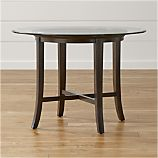"Halo Ebony Dining Table with 42"" Glass Top"