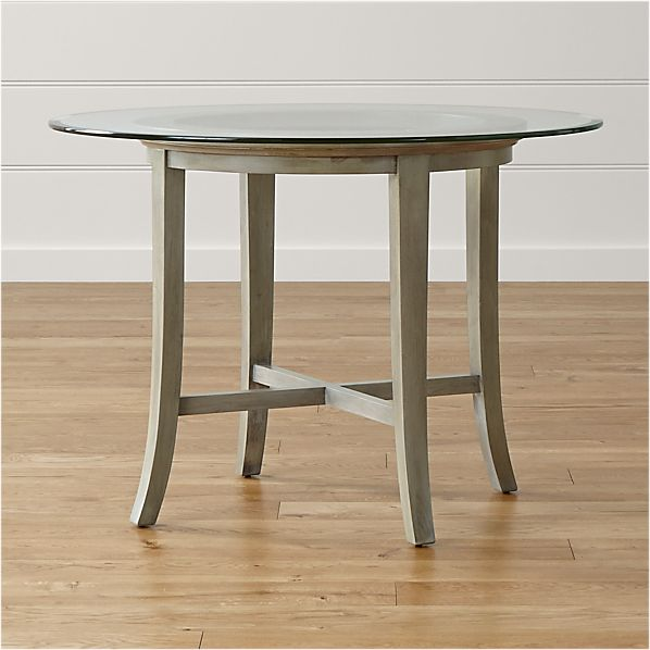 """Halo Grey Dining Table with 42"""" Glass Top"""