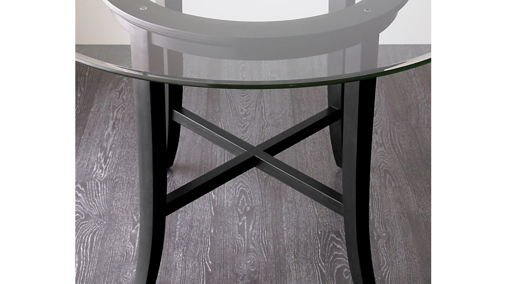 "Halo Ebony Dining Table with 48"" Glass Top"