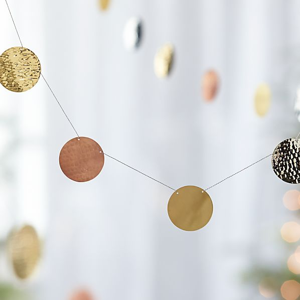 Hammered Metal Garland
