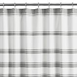 Hampton Stripe Grey Shower Curtain