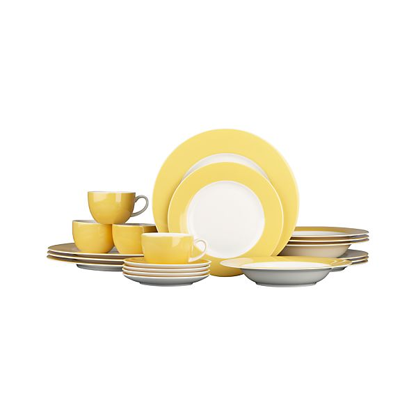 Hamptons Yellow 20-Piece Dinnerware Set