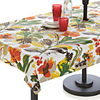 "Handpainted Floral 54""x90"" Umbrella Tablecloth."