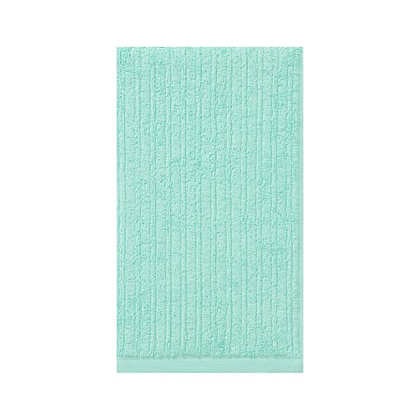 Ribbed Aqua Hand Towel