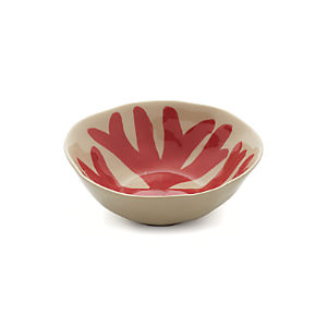 Handpainted Coral Bowl