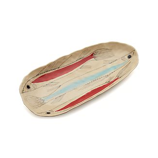 Handpainted Sardine Platter