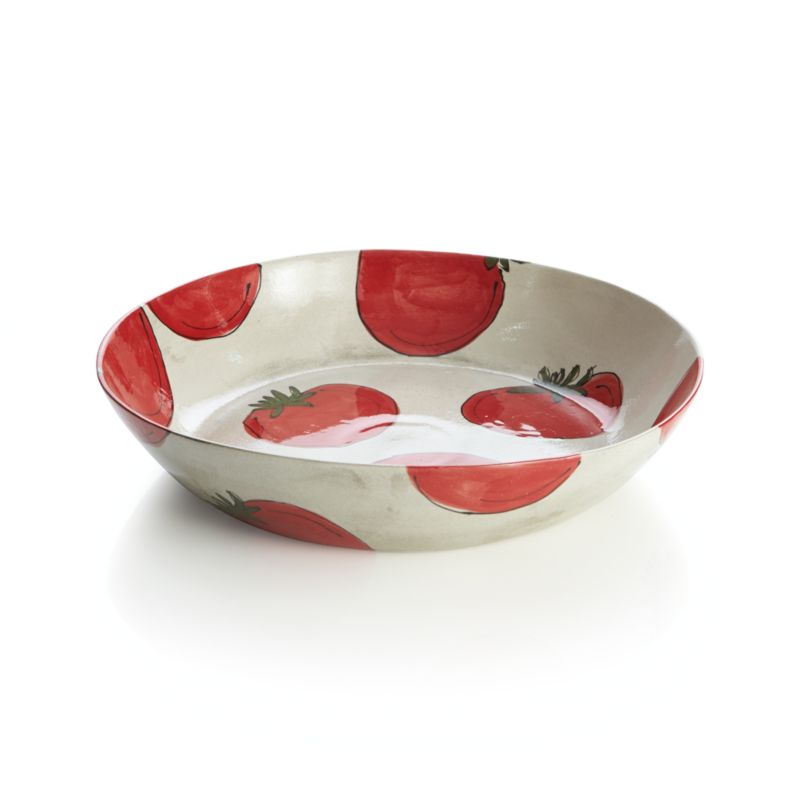 Tomato Serving Pasta Bowl Crate And Barrel