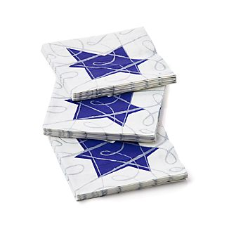 Set of 20 Hanukkah Sketch Paper Beverage Napkins