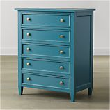 Harbor Blue 5-Drawer Chest
