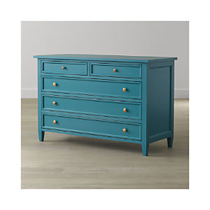 Harbor Blue Five-Drawer Dresser