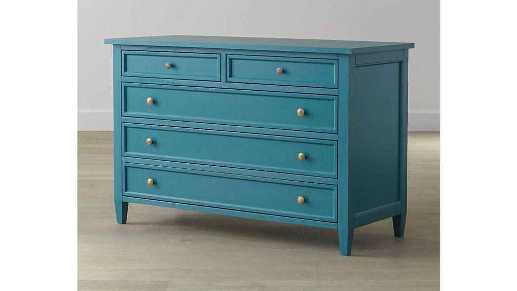 Harbor Blue 5 Drawer Dresser In Harbor Blue Beds Crate