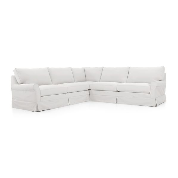 Harborside Slipcovered 3-Piece Sectional
