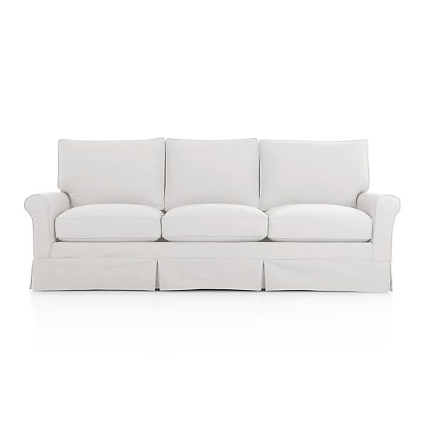 Harborside Slipcovered 3 Seat Sofa Snow Crate And Barrel
