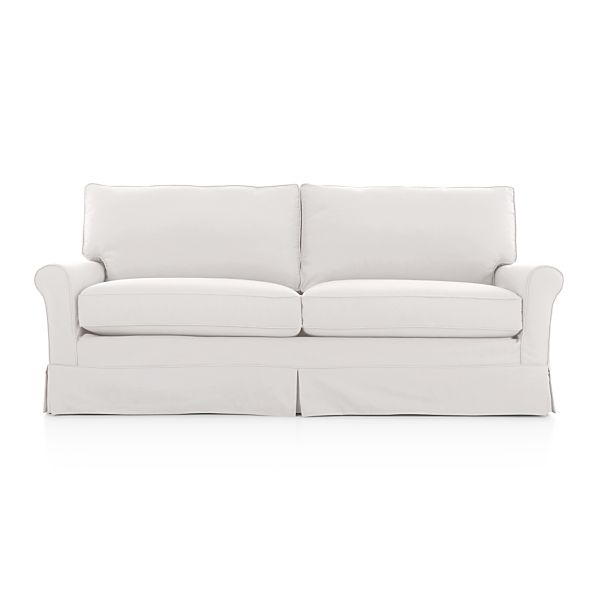Harborside Slipcovered Apartment Sofa - Snow  Crate and Barrel