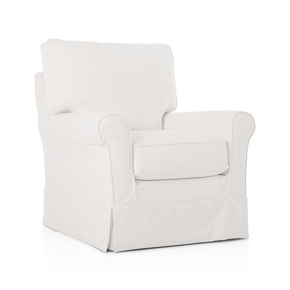 Harborside Slipcovered Swivel Glider Snow Crate And Barrel