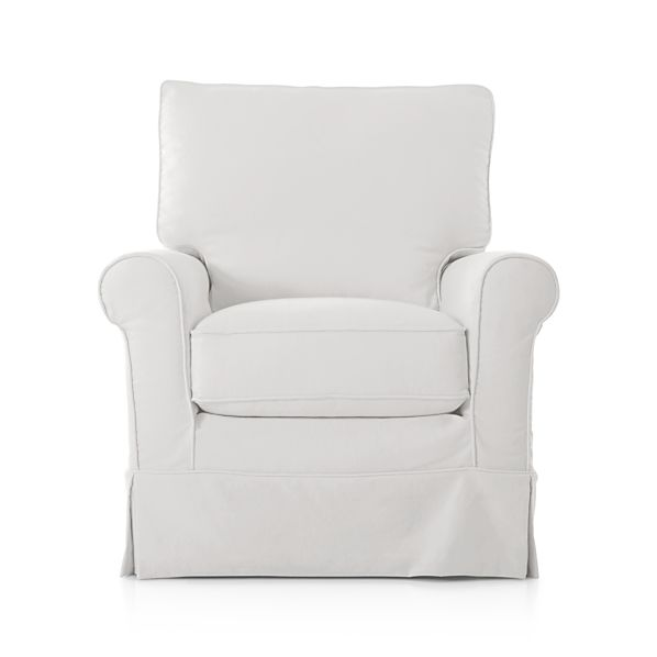 Harborside Slipcovered 360 Swivel Chair