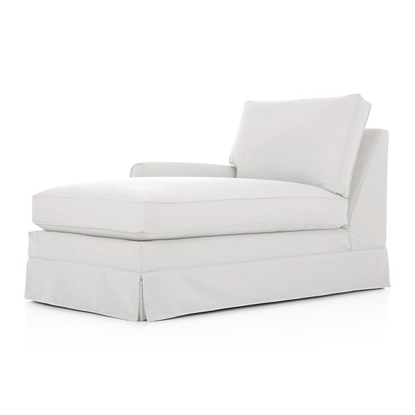 Harborside Slipcovered Sectional Left Arm Chaise
